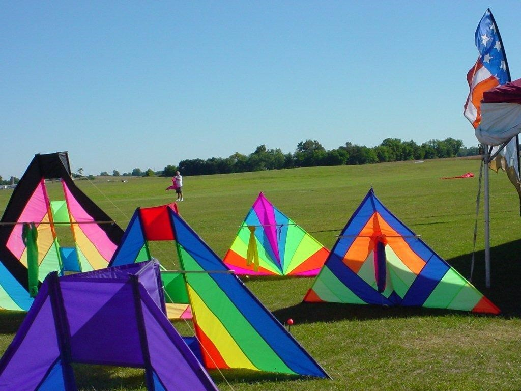 Beck kites on display